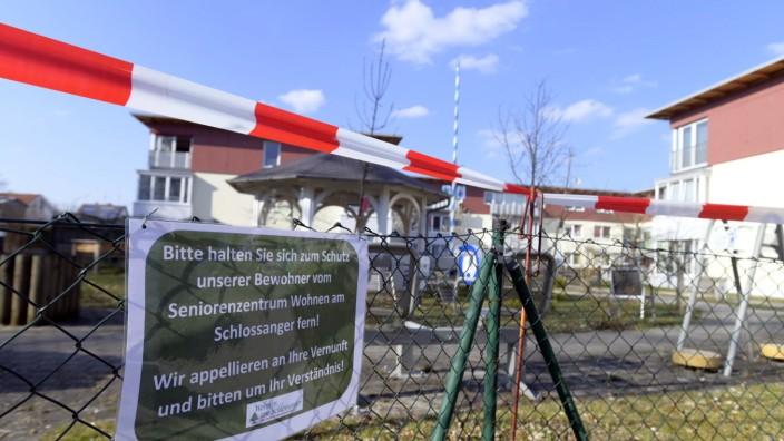 Schutzmaßnahmen für Seniorenzentrum in Höhenkirchen-Siegertsbrunn in der Corona-Krise, 2020