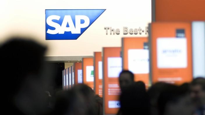 SAP-Stand auf der Cebit 2013 in Hannover