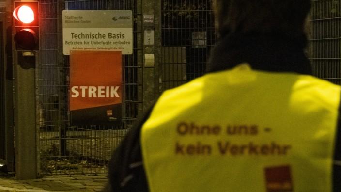 Warnstreiks im kommunalen Nahverkehr in Bayern