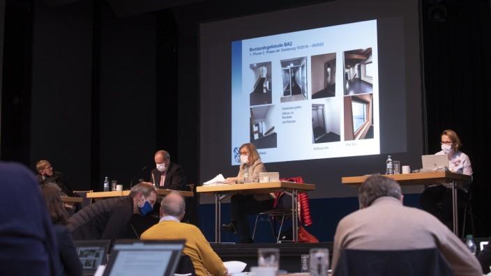 Haar, Bürgerhaus, Kreisausschusssitzung mit Abstand, Foto: Angelika Bardehle