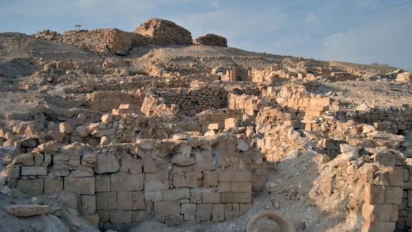 Ruinen der antiken Siedlung Nessana in der Negev-Wüste, Israel.