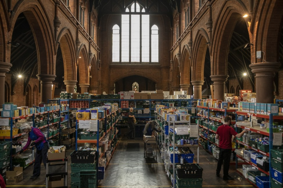 Food Donations Are Delivered By St Margaret's Church In South London