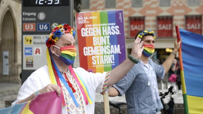 Virtueller Christopher Street Day in München in Zeiten der Corona-Krise, 2020