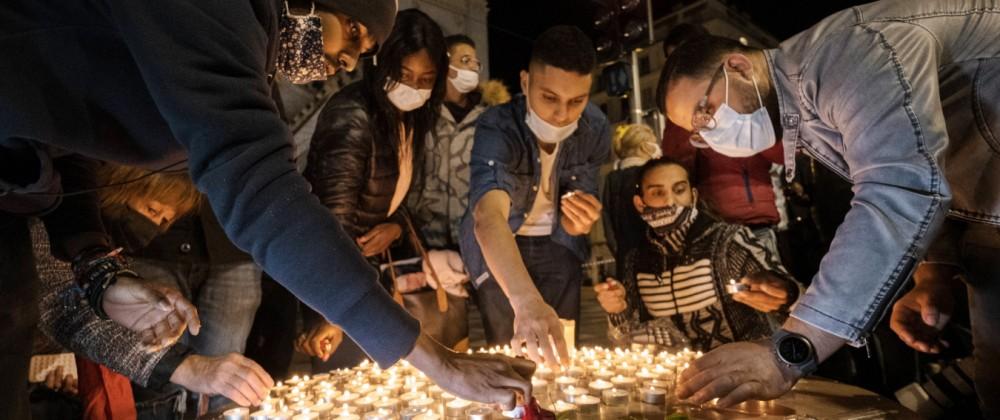 NICE - TERRORIST ATTACK ON NOTRE DAME DE L ASSOMPTION Terrorist attack in the Basilica of Notre Dame de l Assomption.