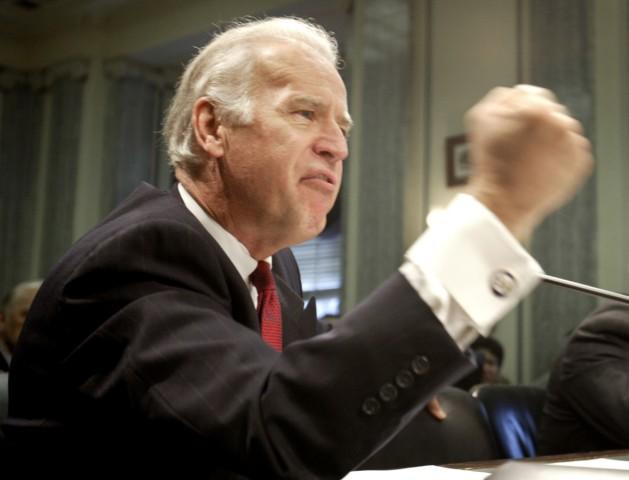 File photo shows Democratic U.S. Senator Joe Biden  during a hearing  on Capitol Hill