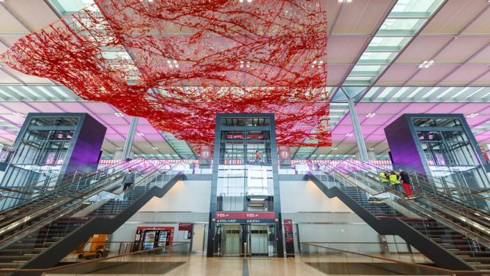 Flughafen Berlin Brandenburg BER Willy Brandt Airport Terminal 1 Berlin, Deutschland - 28. Oktober 2020: Neuer Flughafe