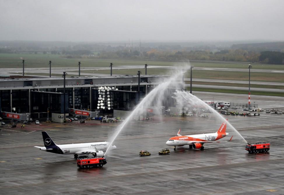 Official opening of the new Berlin-Brandenburg Airport in Schoenefeld