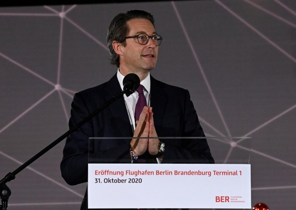 Official opening of the new Berlin-Brandenburg Airport (BER) 'Willy Brandt' in Schoenefeld