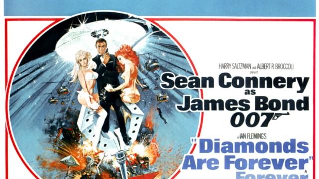 DIAMONDS ARE FOREVER, Sean Connery, (poster art), 1971 Courtesy Everett Collection PUBLICATIONxINxGERxSUIxAUTxONLY Copyr