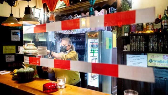 Coronavirus: Kneipe in Hannover 2020 während der Pandemie