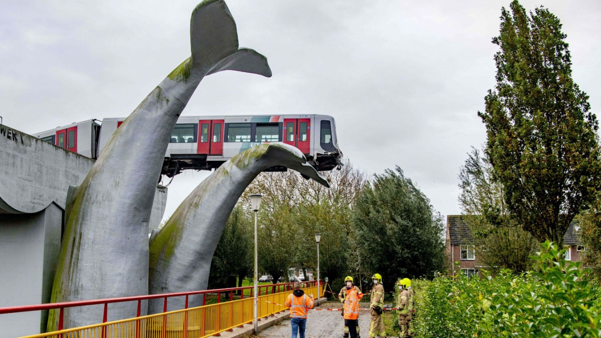 Niederlande: Walfluke stoppt entgleiste U-Bahn