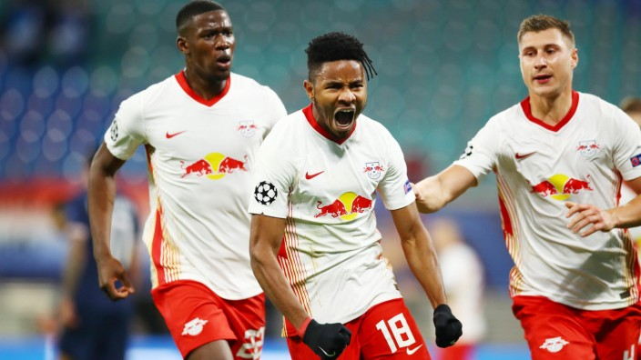 Sport Bilder des Tages RB Leipzig - Paris SG / 04.11.2020 Leipzig, 04.11.2020, Red Bull Arena, Champions League, Gruppe