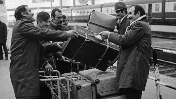 Ankunft von Gastarbeitern in München, 1970er Jahre