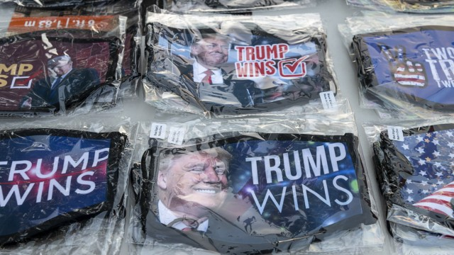 November 3, 2020, Sacramento, California, USA: President Donald Trump memorabilia for sale during a prayer/ protest by t
