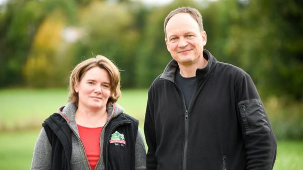 Gerlinde und Franz Xaver Demmel vom Landwirtschaftsbetrieb Huabahof