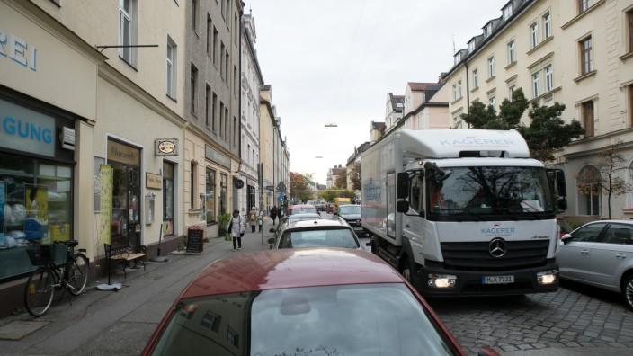 Volkartstraße zwischen Nymphenburger und Frundsbergstraße