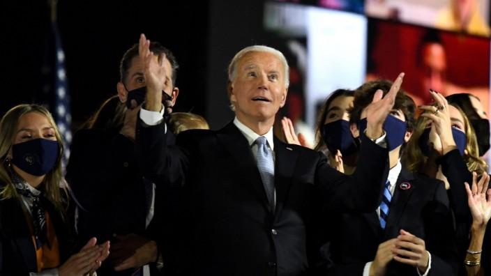 Joe Biden: Joe Biden nach seiner Rede in Wilmington im US-Bundesstaat Delaware.