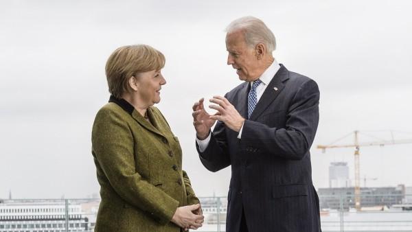 US Vice President Joe Biden Meets With Merkel Ahead Of Munich Security Conference