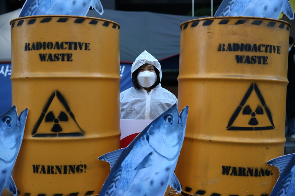 Activists Protest Japan's Plan To Release Water From Fukushima Into The Sea