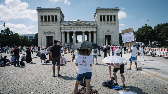 Demonstrationen gegen Corona-Maßnahmen in München 2020