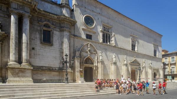 Corso Ovidio course Old Town Church of SS Annunziata Sulmona Abruzzo Italy Europe PUBLICATION; Sulmona Abruzzen Italien Italia