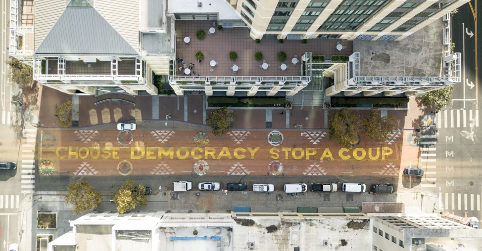 'Count Every Vote' Mural Painted On San Fransisco Street