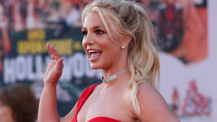 FILE PHOTO: Britney Spears poses at the premiere of 'Once Upon a Time In Hollywood' in Los Angeles
