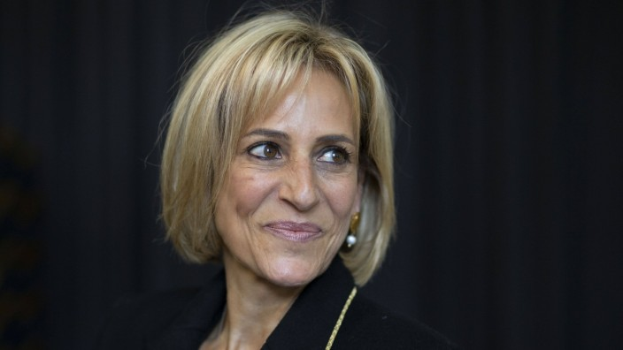. 05/10/2019. Cheltenham, United Kingdom. Cheltenham Literature Festival 2109. Newsnight presenter Emily Maitlis attends; Emily Maitlis