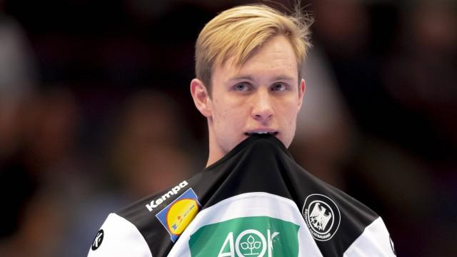 Marian Michalczik (Nr. 22, Deutschland) ist niedergeschlagen / deprimiert / enttaeuscht. Tschechien vs. Deutschland, Han; Marian Michalczik