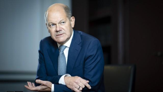 Olaf Scholz, Bundesminister der Finanzen, aufgenommen im Rahmen eines Interviews. Berlin, 09.11.2020. Berlin Deutschlan