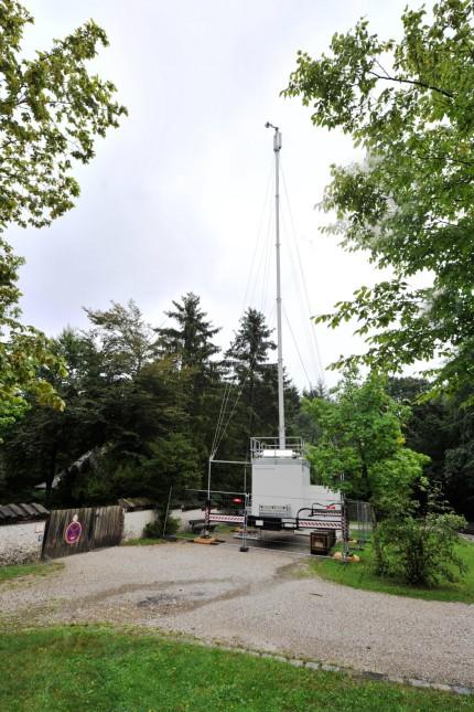 Tutzing: Waldfriedhof Mobilfunkmast