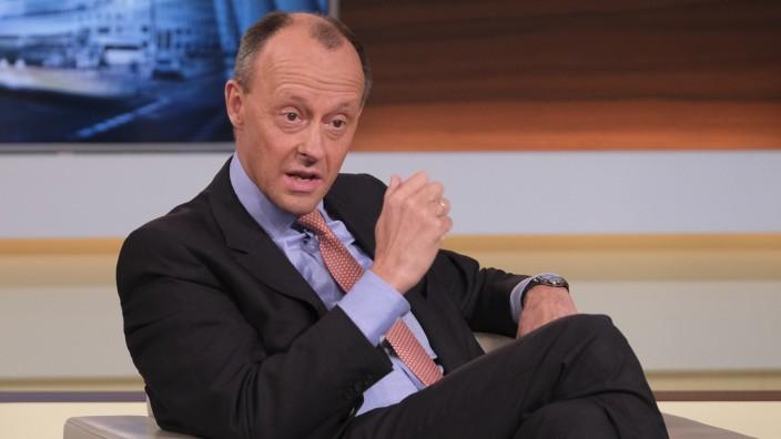 """CDU-Politiker Friedrich Merz zu Gast bei """"Anne Will"""""""