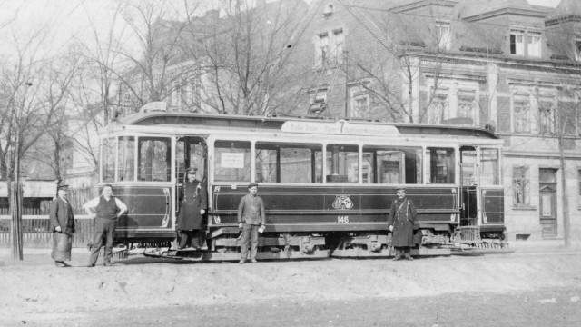 Zeppelinwagen der VAG Nürnberg, Depot St.Peter_1909_Indienststellung_Zeppelinwagen_Nürnberg_Vereinsarchiv