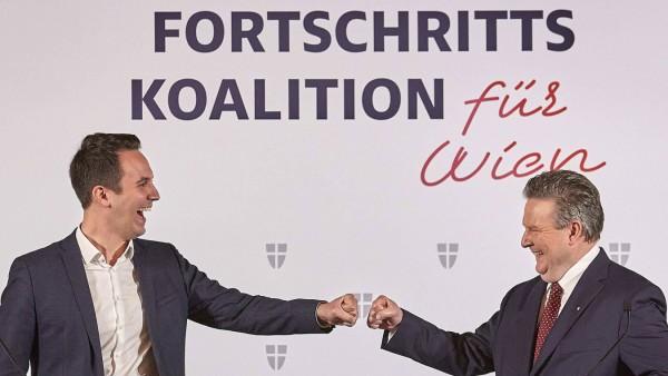 - Wien 16.11.2020 - Wien-Wahl 2020 Koalition - Nach erfolgreich beendeten Koalitionsverhandlungen zwischen der SPÖ und