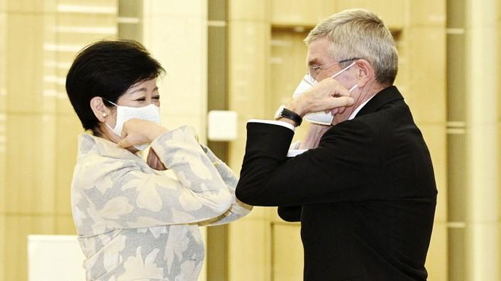 IOC chief Bach meets Tokyo Gov. Koike International Olympic Committee President Thomas Bach (R) and Tokyo Gov. Yuriko K