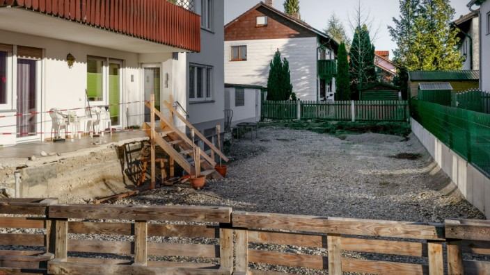Kampfmittelfund im Garten eines Privathauses in München, 2017