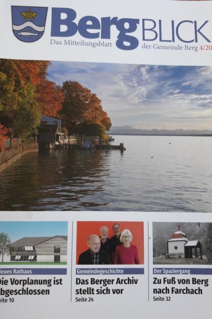 Erste Ausgabe der neuen Berger Gemeindebroschüre ´´Bergblick´´. Foto: Sabine Bader