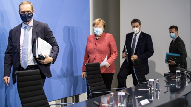 Merkel And States Leaders Assess November Lockdown During Coronavirus Second Wave