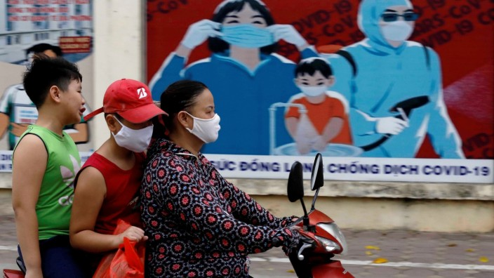 FILE PHOTO: Measures to avoid the spread of the coronavirus disease (COVID-19) in Hanoi