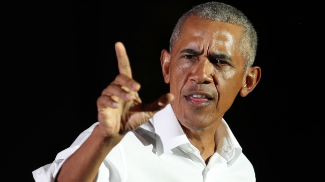 Former President Obama Holds Rally For Joe Biden On Eve Of Election In Miami