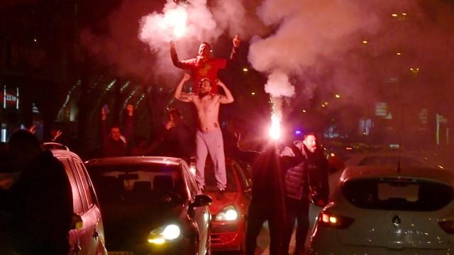 Αθλητικά θέματα της εβδομάδας KW46 Football, EM Quali Playoffs, οπαδοί της Βόρειας Μακεδονίας γιορτάζουν στους δρόμους των Σκοπίων PXL_North