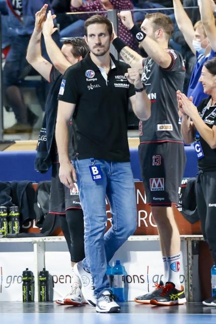Michael Haaß HC-Erlangen-MT-Melsungen am 11.10.2020 in Nürnberg (Arena Nuernberger Versicherung), Germany, 3.Spieltag, L; Michael Haaß HC Erlangen Handball Bundesliga Trainer
