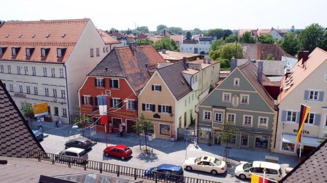 Bruck: Brameshuber Areal / Hauptstrasse von oben