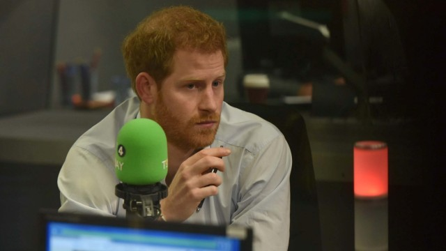 Britain's Prince Harry guest edits the BBC's Radio 4 Today programme, in London