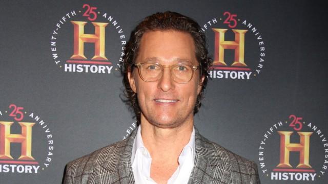 NEW YORK, NY - FEBRUARY 29: Matthew McConaughey at A+E Networks HISTORYTalks at Carnegie Hall in New York City on Februa