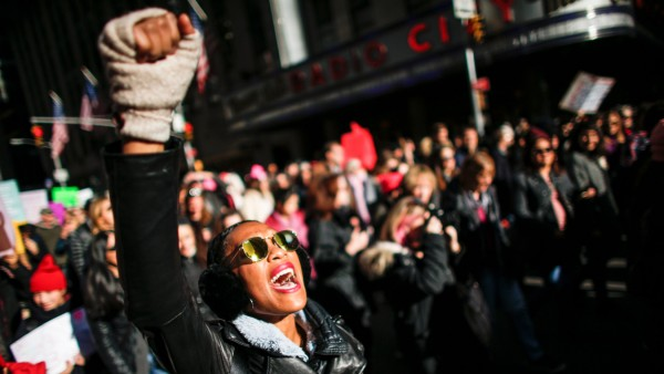 Protestors flock in droves to anti-Trump Women's Marches