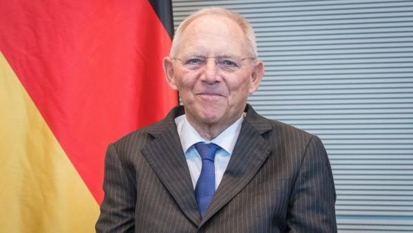 Berlin, Bundestagspräsident Wolfgang Schäuble empfängt den ukrainischen Parlamentspräsidenten Deutschland, Berlin - 30.