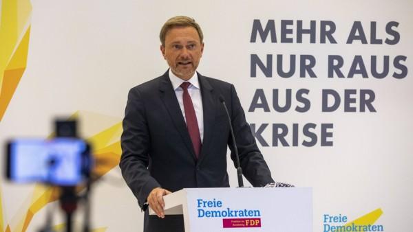 Deutschland, Berlin, Bundestag, FDP Fraktion, Statement von Christian Lindner, 17.11.2020 *** Germany, Berlin, Bundesta