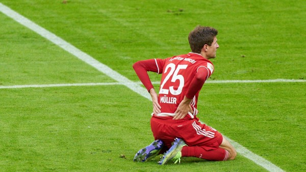 Fussball 1.Bundesliga FC BAYERN MUENCHEN - SV WERDER BREMEN 1-1 Thomas MUELLER, MÜLLER, FCB 25 at the match FC BAYERN MU; Müller