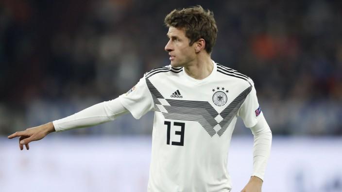 Nations League: Thomas Müller 2018 gegen die Niederlande